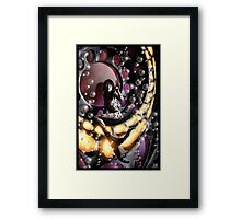 Robot Mermaid Painting 001 Framed Print