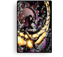 Robot Mermaid Painting 001 Canvas Print