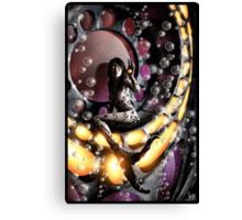Robot Mermaid Painting 001 Canvas Print