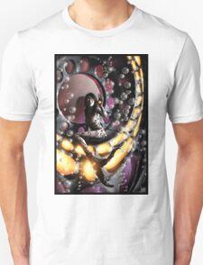 Robot Mermaid Painting 001 Unisex T-Shirt