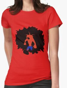 Crash-ing Through (Crash Bandicoot) Womens Fitted T-Shirt
