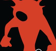 Crash-ing Through (Crash Bandicoot) Sticker