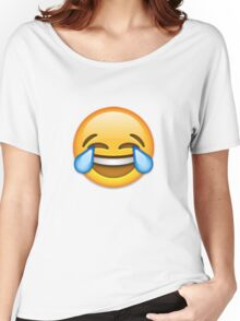 Emoji Crying With Laughter Face Women's Relaxed Fit T-Shirt