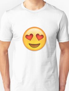 Emoji Heart Eyes Face Unisex T-Shirt