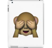Emoji See No Evil Monkey iPad Case/Skin