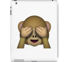 Emoji See No Evil Monkey iPad Case/Skin