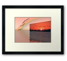 Wish I could fly! Framed Print