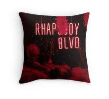 Red Display with Dolls and Decorations Throw Pillow