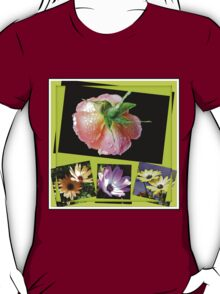 Sunshine and Rain - Rose and Cape Daisies Collage  T-Shirt