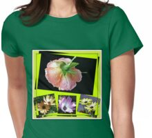 Sunshine and Rain - Rose and Cape Daisies Collage  Womens Fitted T-Shirt