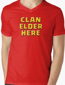 Clan Elder Here Mens V-Neck T-Shirt