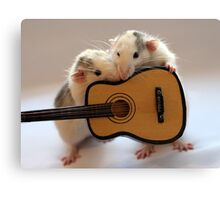 Singing together a little song :) Canvas Print