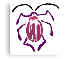 Purple Beetle Canvas Print