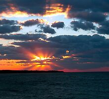 Fall sunset over Aquinnah by Roslyn Lunetta