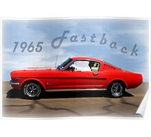 1965 Ford Mustang Fastback Poster