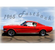 1965 Ford Mustang Fastback Photographic Print