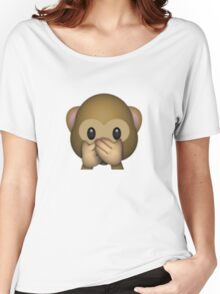 Emoji Speak No Evil Monkey Women's Relaxed Fit T-Shirt