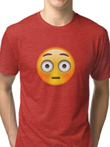 Emoji Flushed Face Tri-blend T-Shirt