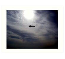 LAPD chopper Art Print
