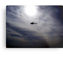 LAPD chopper Metal Print