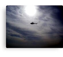 LAPD chopper Canvas Print