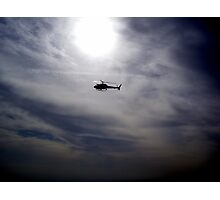 LAPD chopper Photographic Print
