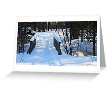 Footbridge to the Lake in Park Voyageur Greeting Card