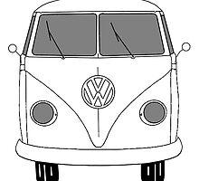 VW Bus by Tiltedgiraffes