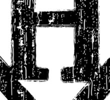 H letter in Superman style Sticker