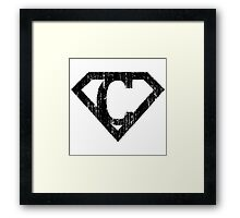 C letter in Superman style Framed Print