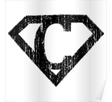 C letter in Superman style Poster