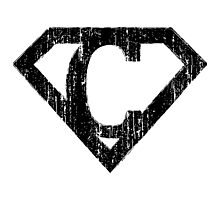 C letter in Superman style Photographic Print