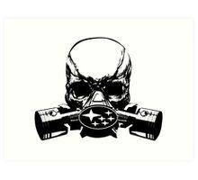 Subie Skull Mask Art Print