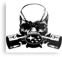 Subie Skull Mask Metal Print