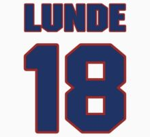 National Hockey player Len Lunde jersey 18 by imsport