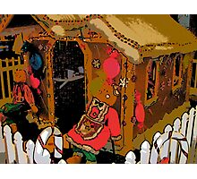 Comic Abstract Gingerbread House Photographic Print
