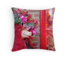 Madam Piggy Throw Pillow