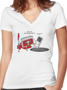 This is the 80,s!!! Women's Fitted V-Neck T-Shirt