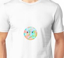Multi-Colored Pastel Moon Emoji Unisex T-Shirt