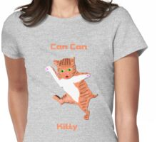 Can Can Kitty Womens Fitted T-Shirt