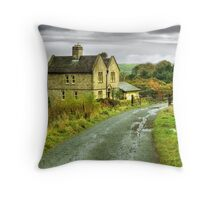 Water House near Darwen, Lancashire Throw Pillow