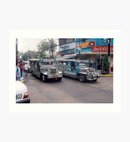 Philippine jeepneys.  Art Print