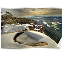 Ovens Valley from Mount Buffalo Poster