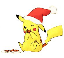 pikachu cookies, christmas Photographic Print