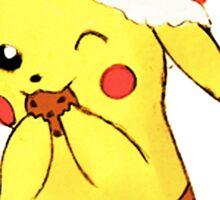 pikachu cookies, christmas Sticker