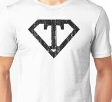 T letter in Superman style Unisex T-Shirt
