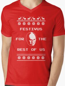 Festivus For The Rest of Us Ugly Holiday Sweater Mens V-Neck T-Shirt