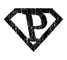 P letter in Superman style Photographic Print