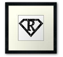 R letter in Superman style Framed Print