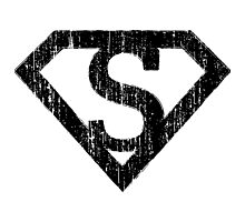 S letter in Superman style Photographic Print